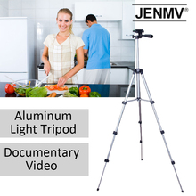 Portable MiNi camera tripod 4 sections adjustable tripod mobile for phone camera projector bearing 3kg with phone holder