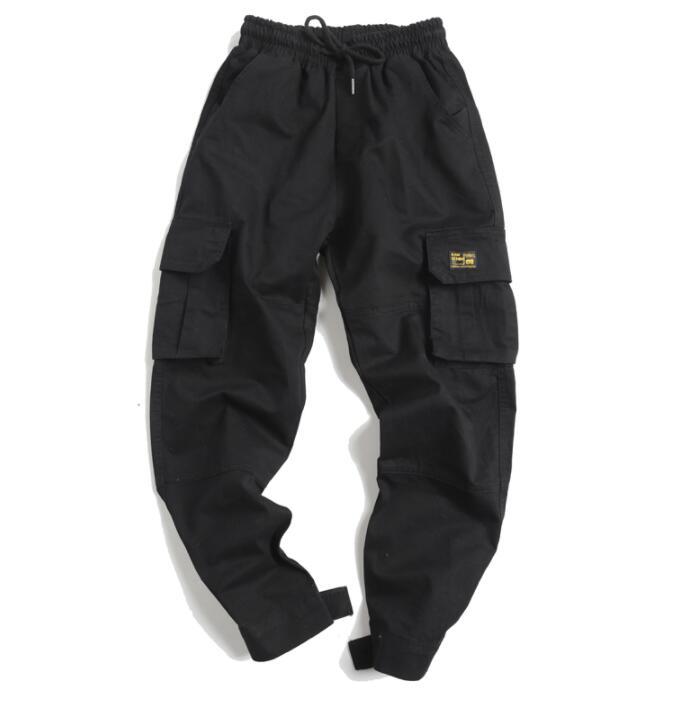 Multi-pocket personality fashion loose harem pants mens casual trousers pantalones hombre cargo feet pants for men pantalon