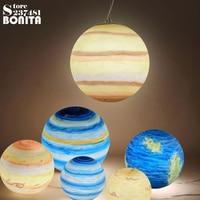 Mars Jupiter Saturn Uranus Sun Mercury Earth Moon pendant lighting universe planet hanging lamp Milky Way Planet pendant lamp