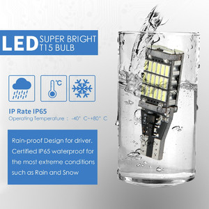 Image 4 - 2xlicense plate light lâmpadas led para carros t15 w16w 45 smd 4014 livre de erros led reverso carro volta lâmpadas 15 w 6000k branco