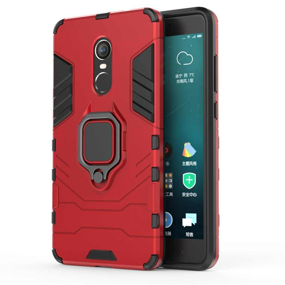 OTAO Shockproof Armor Phone Case For Xiaomi 8 Lite F1 Max Mix 3 2s Cases For Redmi Note 4 5 6 Pro Finger Ring Holder Back Cover