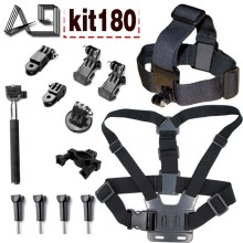 A9 for body tripod monopod head strap mount for Gopro 5 4 3 set for Xiaomi yi 4k and SJcam SJ4000 SJ9000