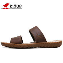 цены Men Leather Sandals Fashion Breathable Male Leather Sandal Summer Men Beach Shoes Beach Sandals Slippers 15C50