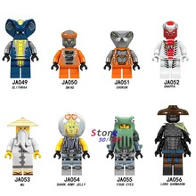 Single Model Building Blocks Series Action Chokun Snappa Garmadon Shark Skeleton Toys for children(China)