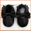 1 Pair Send New Genuine Leather First Walkers Soft bottom Baby shoes Toddler Baby moccasins Infant  Bow Shoes Free shipping
