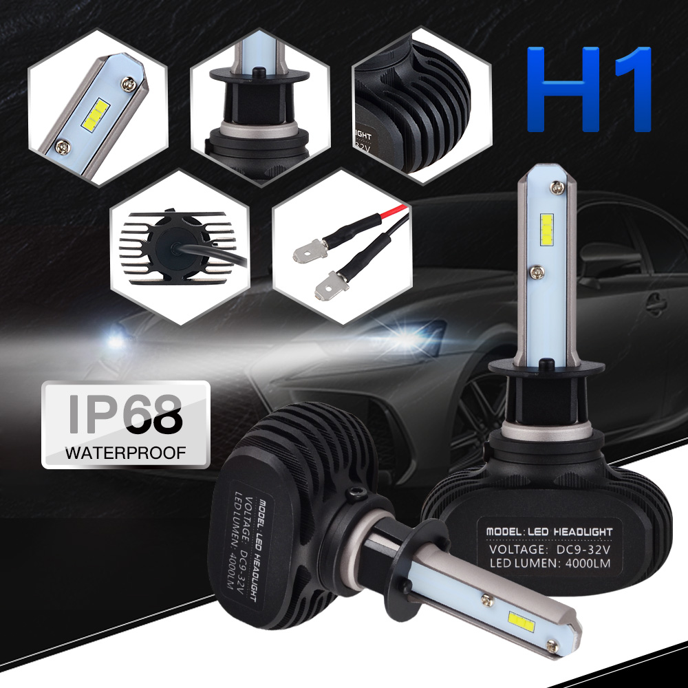 NICECNC H1 LED Car Headlight Bulb Headlamp 50W 8000LM 6000K For Freelander C-Class E-Cla ...
