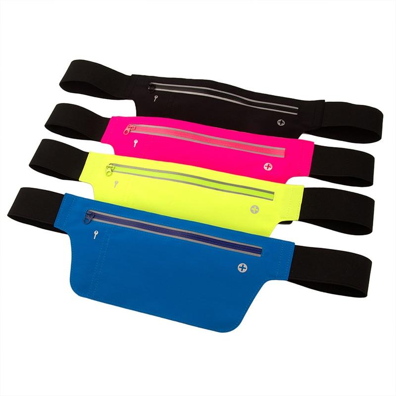 Unisex Multifunction Cycling Running Hip Money Belt Waist Bag Men Women Waterproof Phone Bag Outdoor Sports Gym Bags Fanny Pack