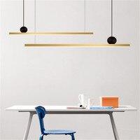 Postmodern Line Design Led Pendant Lamps Nordic Long Strip Copper Chandelier Lustre for Hotel Hall Light Fixture Hanglamp