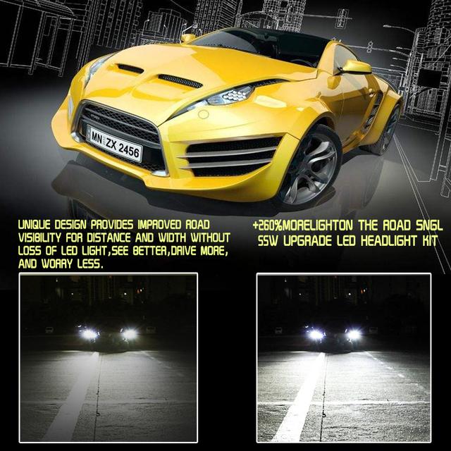S7 Car Headlight Bulbs LED H1 H3 H27 H7 H11 HB3 HB5 880 9005/HB3 9006/HB4 H4 HB1 12V 55W 6000K 12000LM Lamp Auto Bulb Light
