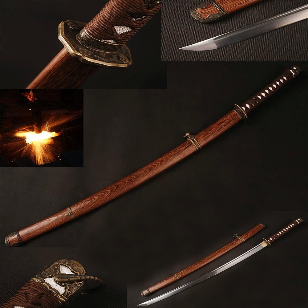 Espada Katana Japonesa De Madera Tsuba Brida almacenamiento caja desde Japón F//s con seguimiento