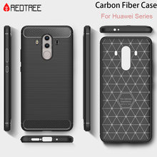 Redtree Carbon Fiber Case for Huawei P8 P9 P10 Lite 2017 Nova 2 Plus Soft TPU Case for Honor 6X 5C 8 V8 Y3 Y5 Y6 Y7 Case Capa(China)