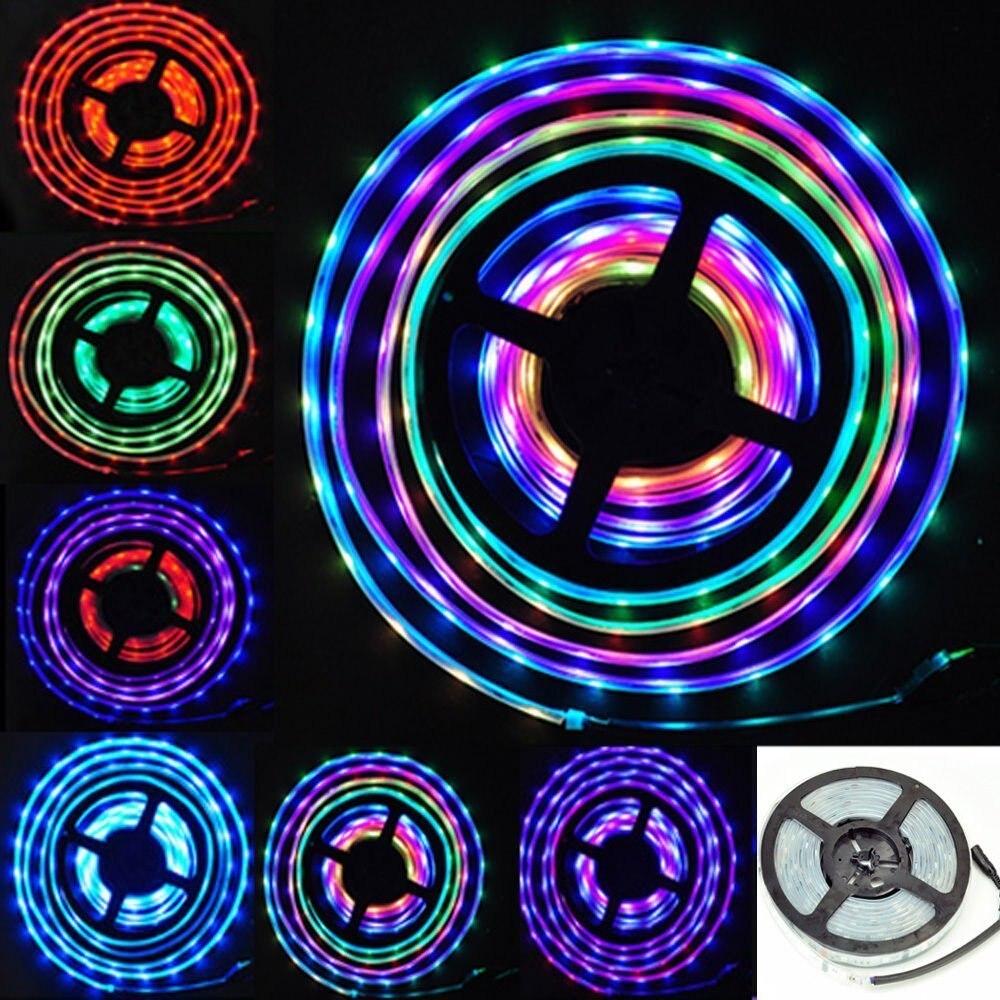 10 M 5050 RGB Dream Color Magic 6803 IC LED lumière de bande + 133 changement RF télécommande + adaptateur d'alimentation - 4
