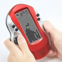 Retro Classic Tetris Handheld Game Players Childhood Electronic Games Toys Led Game Console With Big Screen(China)