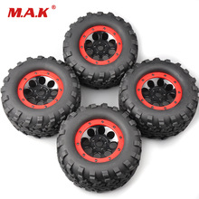 4Pcs/Set 160mm 1:8 Bigfoot Monster Truck Tires&Wheel 17mm Hex 4 TRAXXAS Summit RC Car Accessories