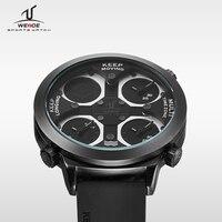 WEIDE Marca de Fábrica superior de Cuarzo Relojes Deportivos Hombres Del Ejército Militar Negro UV1503 automático A Prueba de agua Reloj Dial Grande de Moda Con Caja de Regalo