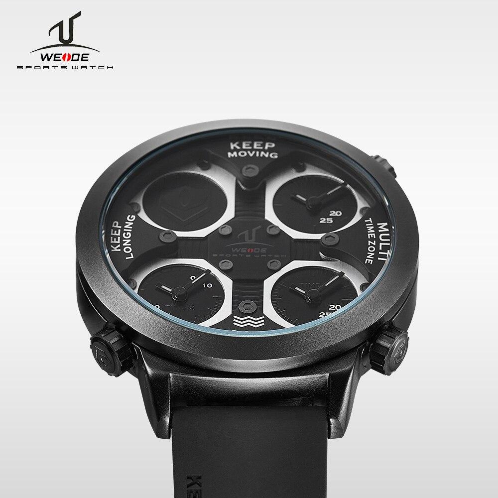 WEIDE top Marque Quartz Sport Montres Hommes Militaire Armée Noir Étanche automatique Horloge De Mode Grand Cadran Avec Boîte-Cadeau UV1503