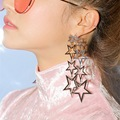 Galaxy's Stars Earring Floating Fairy Dust Deramy Dangle Earrings Woman's Party Statements Earrings Hot Fashion Jewelry
