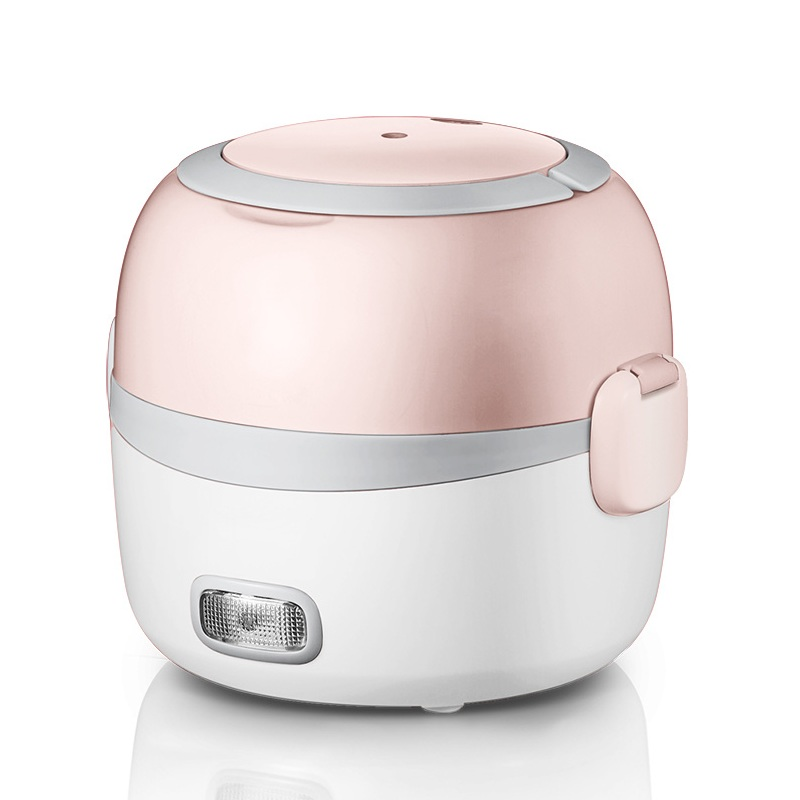 DMWD 2 Layer 1.3L Mini Rice Cooker 220V Office Portable Electric Lunch Box Food Heater Keep Fresh For 1-2 People