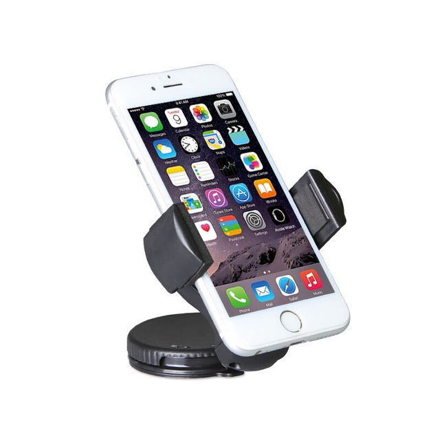 mobile holder car general sucker support mini rotate trestle table sumsung iphone HTC black