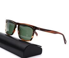 Square Sunglasses Women Vintage Sunglasses Men  Acetate Frame with Glass Lenses  OV5189 Bemardo Sun Glasses Retro Sunglasses