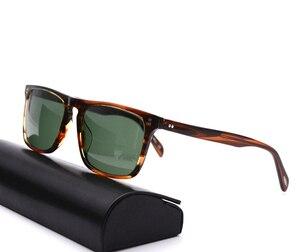 Image 1 - Square Sunglasses Women Vintage Sunglasses Men  Acetate Frame with Glass Lenses  OV5189 Bemardo Sun Glasses Retro Sunglasses