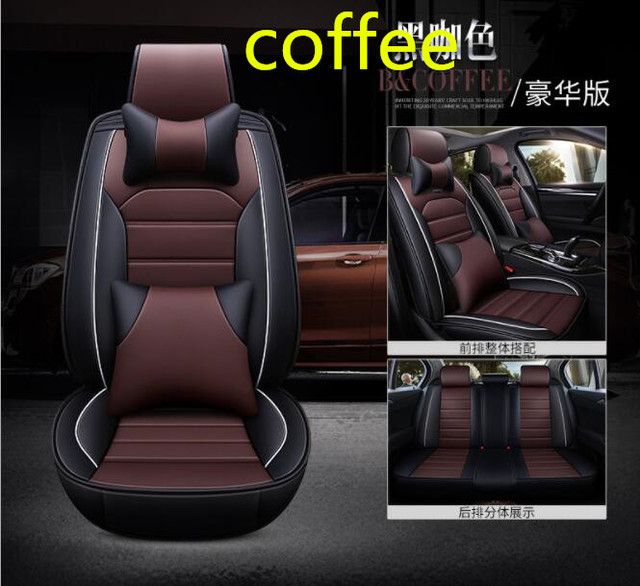 Fundas de asiento de coche de cuero transpirable para Kia Rio 4 X-line asiento de coche accesorios de coche palos de coche