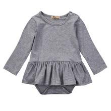 Autumn Spring Cotton Newborn Infant Baby Boys Girls Clothing Tops Bodysuit Skirt Long Sleeve Sunsuit Jumpsuit Clothes Outfits
