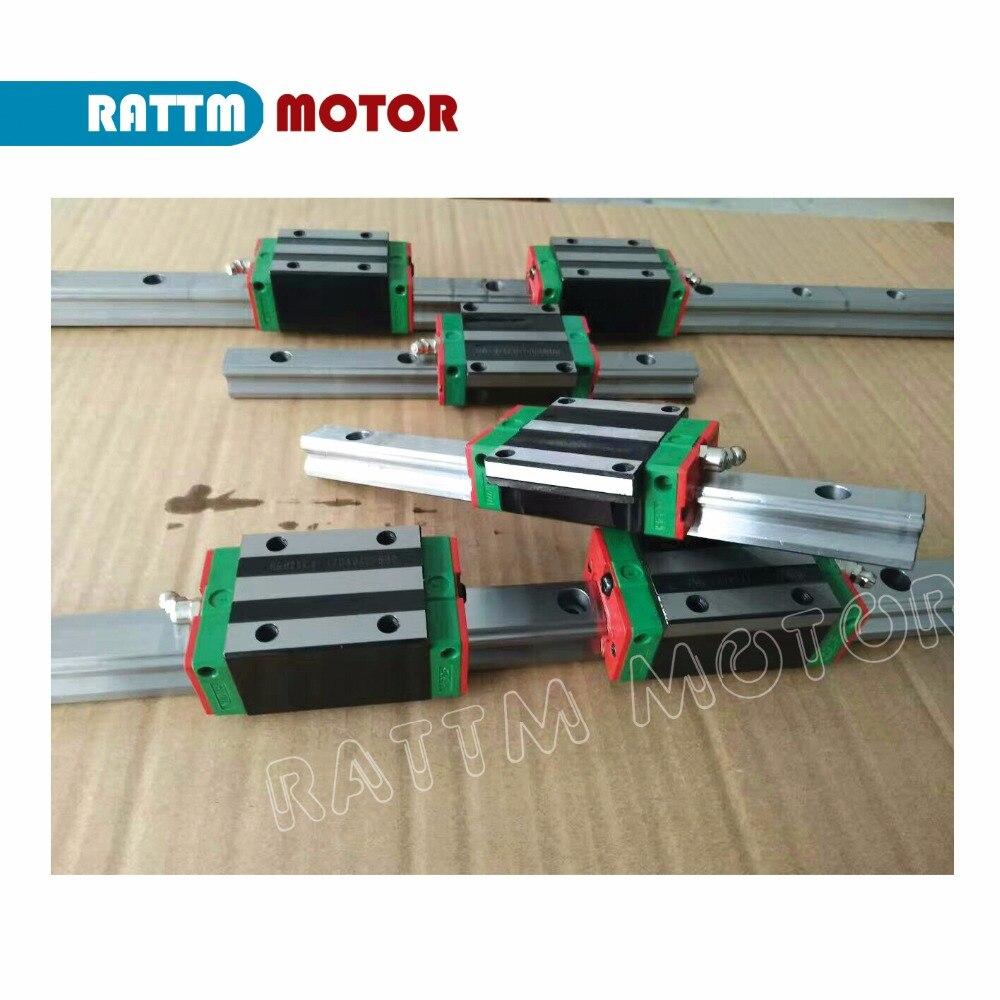 3 ensembles Carré Linéaire guide ensembles L-400/700/1000mm & 3 pièces Vis À Billes 1605-400/ 700/1000mm avec Écrou et 3 ensemble BK/B12 et Couplage pour CNC - 3