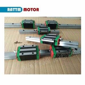 Image 3 - 3set kare lineer kılavuz L 400/1000/1500mm ve 3 adet vidalı SFU2005 400/1000/1500mm somun ile ve 3set BK/B12 ve kaplin CNC