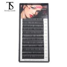 Thinkshow 12 líneas 0.05-0.25mm Profesional 3D Volumen coreano Extensión de pestañas falsas Una Bandeja de tiras Para maquillaje