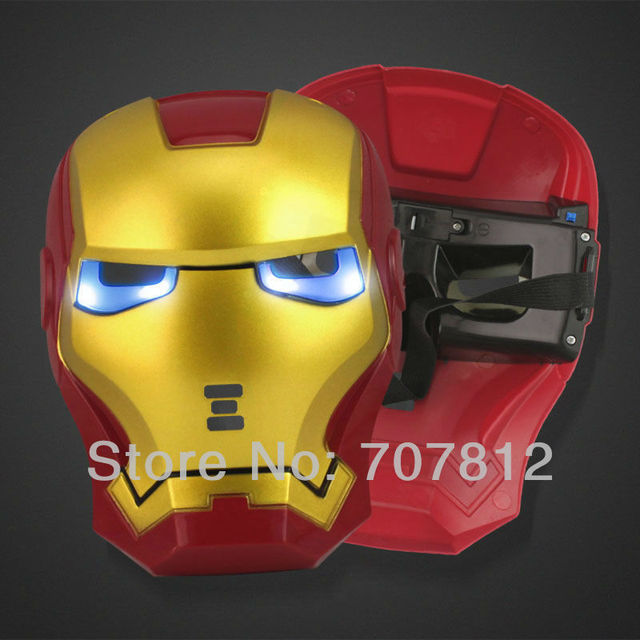 2013 new arrival 10pcs IRONMAN  mask lighting Anonymous mask Halloween carnival party mask brand new with free shipping