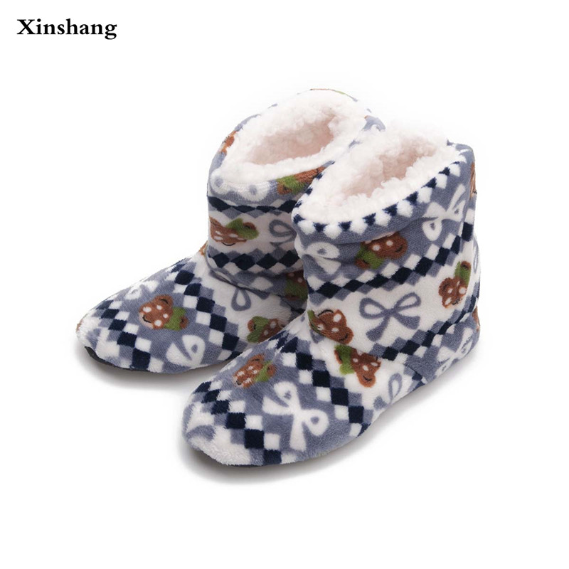 2017 Women At Home Warm Home Shoes Coral Fleece Indoor Floor Socks Winter Soft Plush Floor Slipper Best Quality Home Slippers suihyung winter warm women men indoor shoes plush soft sole home slippers non slip floor slippers female at home bedroom shoes