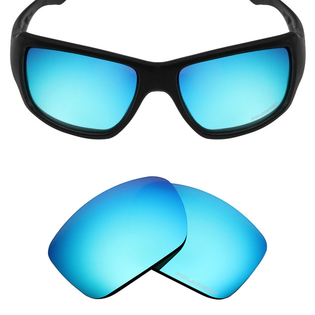 f6ea26c92a3a5 Mryok+ POLARIZED Resist SeaWater Replacement Lenses for Oakley Big Taco Sunglasses  Ice Blue