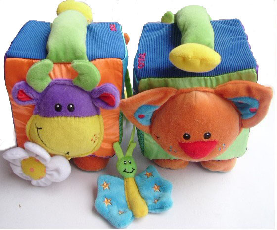 Tolo Farm Activity Cube Baby Cloth Animal Toy Box Sounding Education Gift
