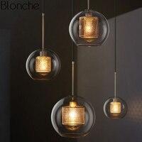Nordic Modern Pendant Lights Loft Led Glass Ball Hanging Lamp Dining Room Industrial Decor Kitchen Fixtures Suspension Luminaire