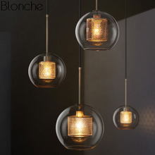 Nordic Modern Pendant Lights Loft Led Glass Ball Hanging Lam