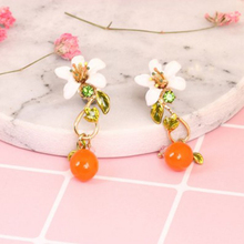Juicy Grape New Arrivals Flower Pendant Earrings For Woman Spring 925 Silver Needles Jewelry Enamel Precious Jewelry