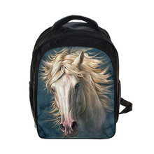 Crazy Horse Prints Kindergarten Backpack Animal Children School Bags Kids Cartoon Schoolbags Backpack Gift Bag Mochila Escolar