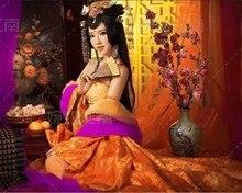 Jin Ting Yi Tang Gorgeous Empress Costume with Splendid Tail Women's Costume щетка для жирной посуды zhu yi tang