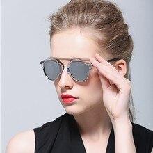 Поляризовыванная кошачий глаз очки женщин бренд дизайнер металлический каркас поляризованные очки для мужчин , женщин пара gafas-де-сол