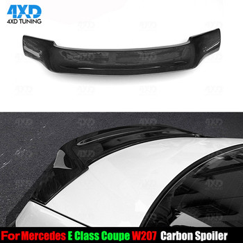 W207 Coupe Carbon Spoiler R Style For Mercedes E Class C207 Rear Trunk Spoiler Wing 2010 2011 2012 2013 2014 2015 2016 image