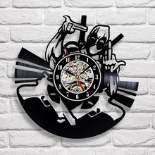 Deadpool Vinyl Wall Clock – Decorate your home with Colored Movie Art – Best gift for man, friend, girlfriend, family – Win a pr