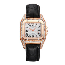 Fashion Watch Women Roman Dial 3D Diamond Feman Clock Luxury Leather Strap Square Quartz Casual Lady Wristwatch Relogio Feminino lvpai brand fashion casual silver luxury 9 color women roman leather band analog quartz watch girls lady hour clock wristwatch