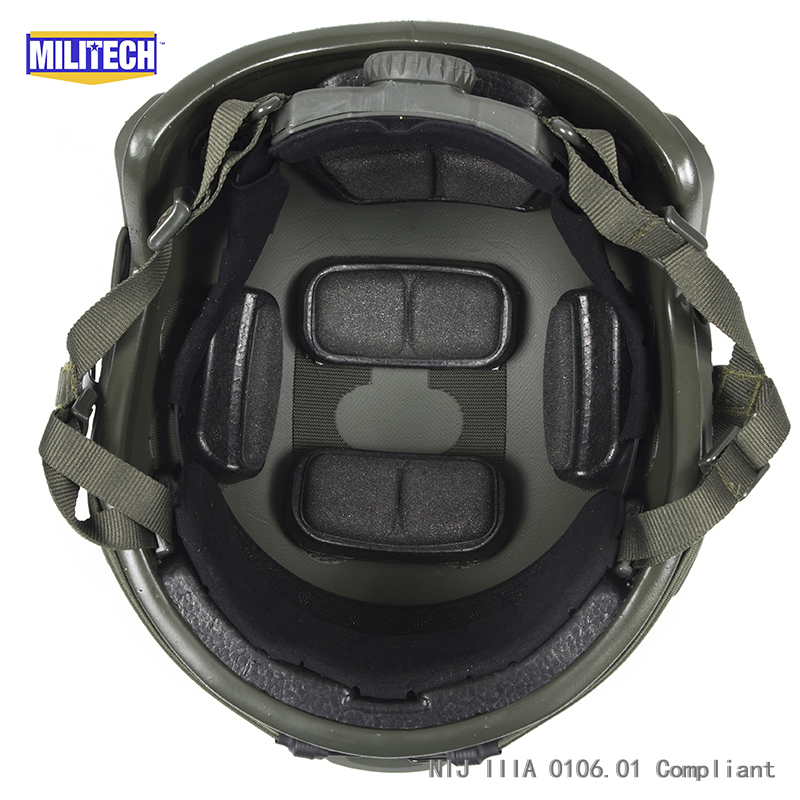 ISO Certified MILITECH 1.25KG Lite OD Super High Cut Aramid Ballistic Helmet Light Weight SWAT Bulletproof Helmet DEVGRU SEAL