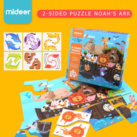Mideer Children 2 Sided Paper Puzzle Toys Noah's Ark Matching Puzzle Learning and Educational Toys for Kids Baby Gifts