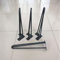Горячие продажи Шпильки Ноги 18 дюймов, матовый черный цвет, таблицы, используемой и Металла Шпильки ножки стола, Ногах Шпильки с 3 pins