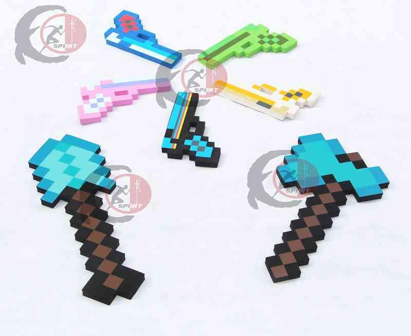 font b Minecraft b font Toys font b Minecraft b font Foam Diamond Sword Pickax