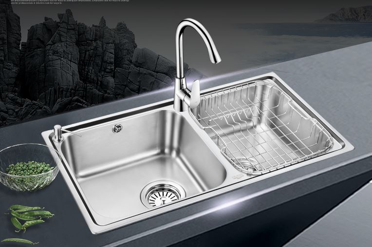 Trough Sink Kitchen #29: Free Shipping Trough Dual Trough Set Of Stainless Steel Sink Kitchen Dishes Wash Basin Dual Tank Set Of Health Faucet-in Kitchen Sinks From Home Improvement ...