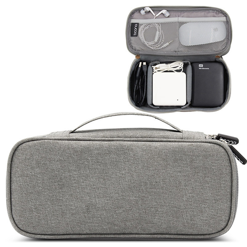 USB Electronics Accessories Cable Storage Bag Travel Gadget Organizer Pad PC Power Case Earphones Power Bank Cloth Pouch gadget