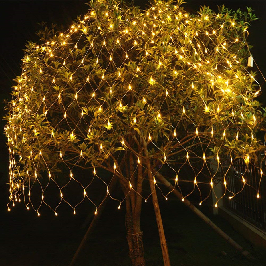 Garlands Waterproof String Lights Led Net Mesh String Light Outdoor Decoration 8 Modes Indoor /Outdoor Lighting Fairy Lights 3x6m led net lights 800 smds christmas natal new year garlands waterproof led string indoor outdoor landscape lighting wholesale